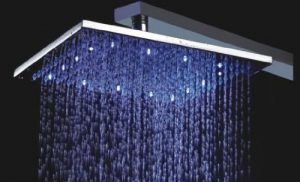 Detroit Bathware Ys-7574 Luxury 10-inch Square 3 Color LED Showerhead