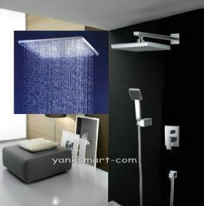 Detroit Bathware Ys-7577 Yanksmart Luxury 10-inch Rainfall Showerhead