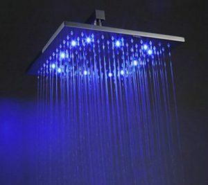 Detroit Bathware Ys-7580 Yanksmart 12-inch Rainfall LED Showerhead