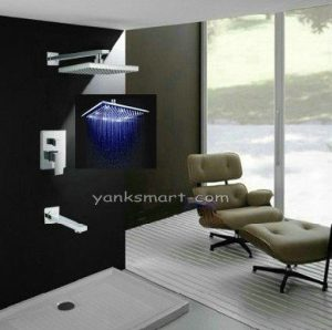 "Detroit Bathware Ys-7589 Luxury 12"" LED Showerhead"
