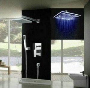 Detroit Bathware Ys-7596v Yanksmart 12-inch LED Showerhead