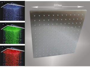 "Fontana HDD917 Luxury 16"" Rainfall Square LED Shower BST-LED6106-16"