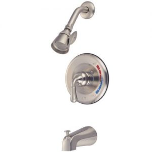 Kingston Brass KB638 Satin Nickel Single Control Handle Tub Shower