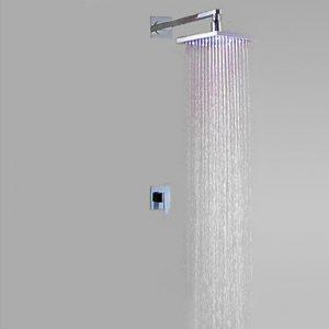 Rozinsanitary 12 Inch Wall Mount Chrome Brass Rainfall Shower