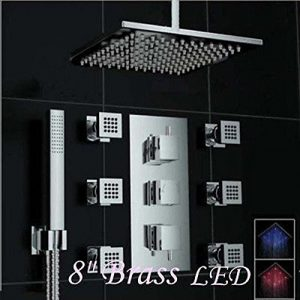 Rozinsanitary 8 Inch Ceiling Mount Rainfall Shower
