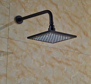 Rozinsanitary 8 Inch LED Color Wall Mounted Rainfall Shoewerhead