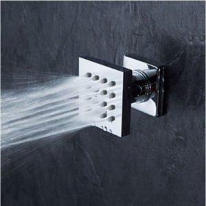 Rozinsanitary 8 Inch LED Colors Thermostatic Brass Rain Shower