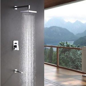 Rozinsanitary LED Colors Changing 8 Inch Chrome Rain Shower