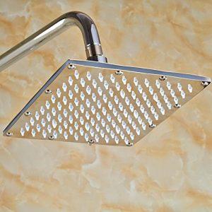 Senlesen SE4111 8 Inch LED Color Changing Brass Rainfall Shower