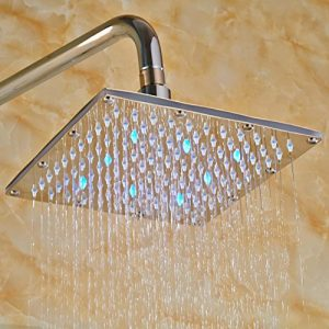 Senlesen SE4232 Led 12 Inch Chrome Bathtub Showerhead