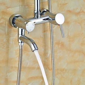 Senlesen SE4317 LED 8 Inch Contemporary Chrome Rainfall Shower
