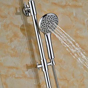 Senlesen SE4347 10 Inch Chrome Brass LED Rainfall Showerhead