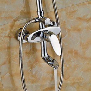 Senlesen SE4554 10 Inch Chrome LED Color Rain Brass Showerhead