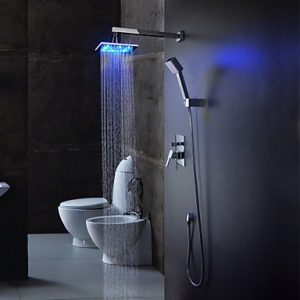Sprinkle Faucets Color Changing LED 8 Inch Hand Showerhead