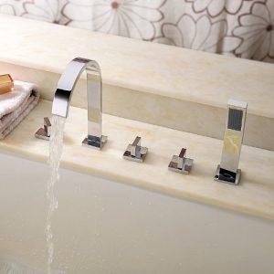 Sprinkle Three Handles Chrome Waterfall Handheld Shower 156522