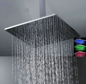"Detroit Bathware F4514 16 ""Led Showerhead"