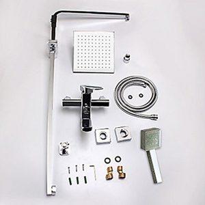 "Detroit Bathware L-54514 Wall Mounted 8"" LED Showerhead"