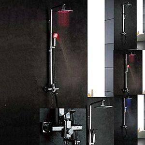 "Detroit Bathware L-56365 Wall Mounted 16"" LED Showerhead"