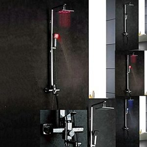 "Detroit Bathware L-56365 Wall Mounted 8"" LED Showerhead"