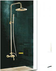 Detroit Bathware Y41001 Golden Wall Mount Showerhead