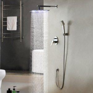 Lightinthebox 10 Inch Brass Water Temperature LED Showerhead 162597