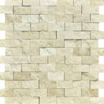 botticino marble split faced mosaic tile 3