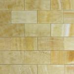 brick pattern honey onyx polished mosaic tiles 7