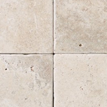crema marfil square marble tile tumbled and honed 6