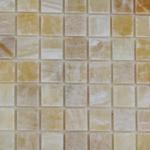honey onyx polished mosaic tiles meshed 5