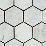 white carrara bianco venatino hexagon marble honed 10