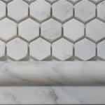 white marble hexagon polished mosaic tiles 2