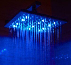 ALFI LED5005 10-Inch Multi Color LED Rain Showerhead