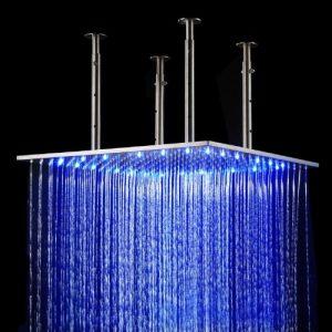 Detroit Bathware 02GB 20 Inch Wall Mount LED Showerhead