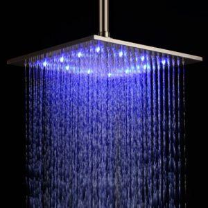 "Detroit Bathware 8127 Rainfall 12"" LED Showerhead"