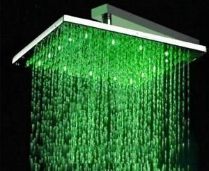 "Detroit Bathware C7841 12"" LED Rain Showerhead"