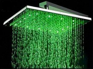 """Detroit Bathware L0966 16"""" Finish LED Rain Showerhead"""