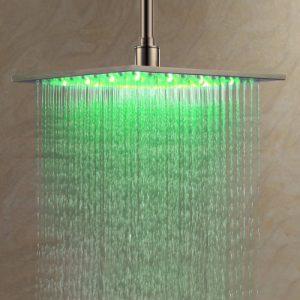 "Detroit Bathware L36254 Stainless Steel 16"" LED Series Rain Showerhead"