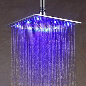 Detroit Bathware Y63525 10 - Inch LED Temperature Sensitive Showerhead