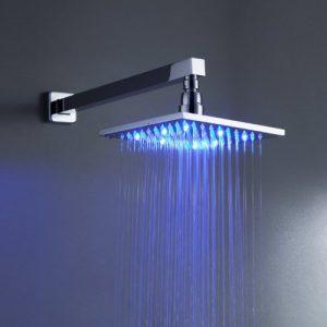 """Detroit Bathware Ys-168 8"""" LED Over Head Bathroom Shower"""