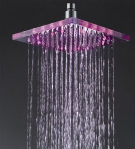 Detroit Bathware Ys-1702 8- Inch LED Temperature Sensitive Showerhead