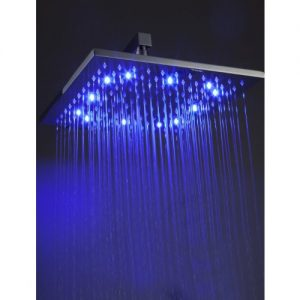 Detroit Bathware Ys-1721 12-Inch LED Temperature Sensitive Showerhead