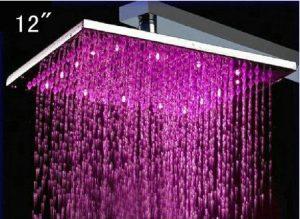 Detroit Bathware Ys-1722 12 - Inch LED Temperature Sensitive Showerhead