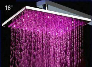 "Detroit Bathware Ys-1733 16"" LED Temperature Sensitive Showerhead"