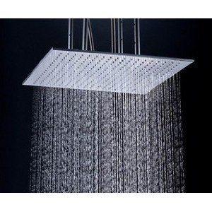 "Detroit Bathware Ys-1739 20"" LED Temperature Sensitive Showerhead"