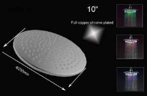Hai Lighting 10 Inch Temperature Rainbow LED Showerheads