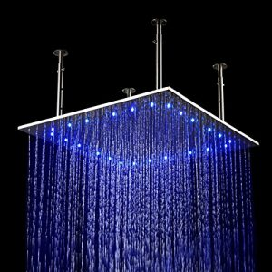 Hai Lighting 24 Inch Temperature 3 Color LED Square Showerheads
