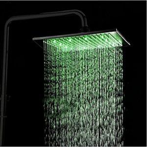 Rozin 12 Inch LED Light Oil Rubbed Rainfall Showerhead