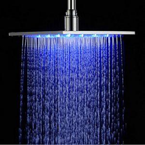Rozinsanitary 12 Inch Chrome LED Color Rainfall Showerhead