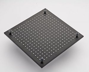 Rozinsanitary 16 Inch Luxury Crystal Deco LED Rainfall Shower