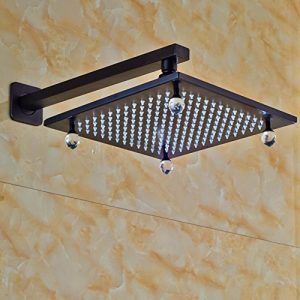 Senlesen 16 Inch LED Color Rubbed Bronze Showerhead SE4396
